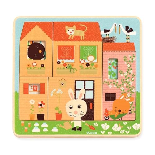 【Djeco智荷】兔子小屋三層拼圖