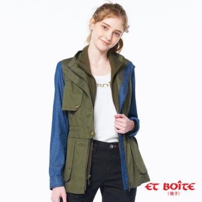 ET BOîTE 箱子 BLUE WAY –牛仔拼接風衣外套