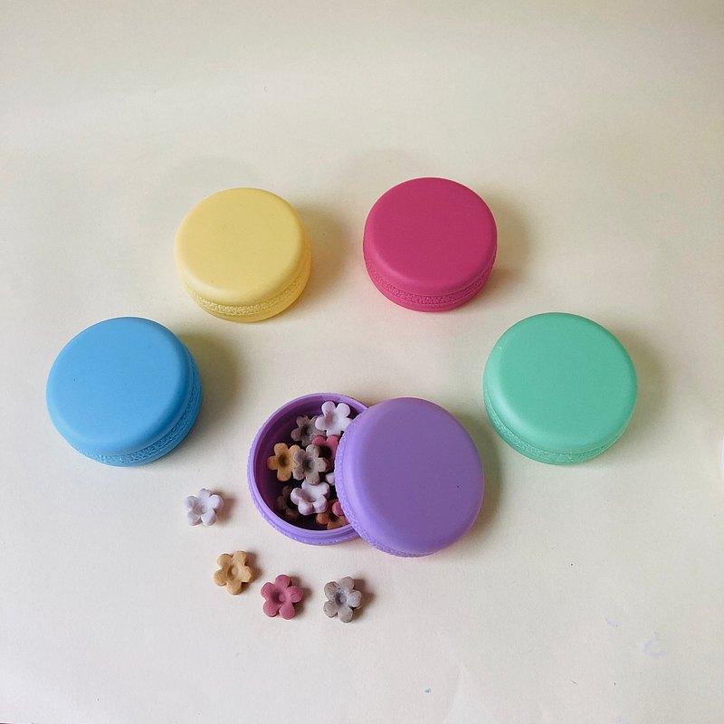 防疫勤洗手 手護健康 隨身旅行精油草本皂 類紙香皂花馬卡龍盒5盒