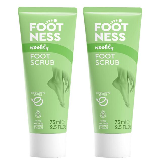 footness足醫適 腿足乳酸輕石去角質凝膠75ml(2入組)