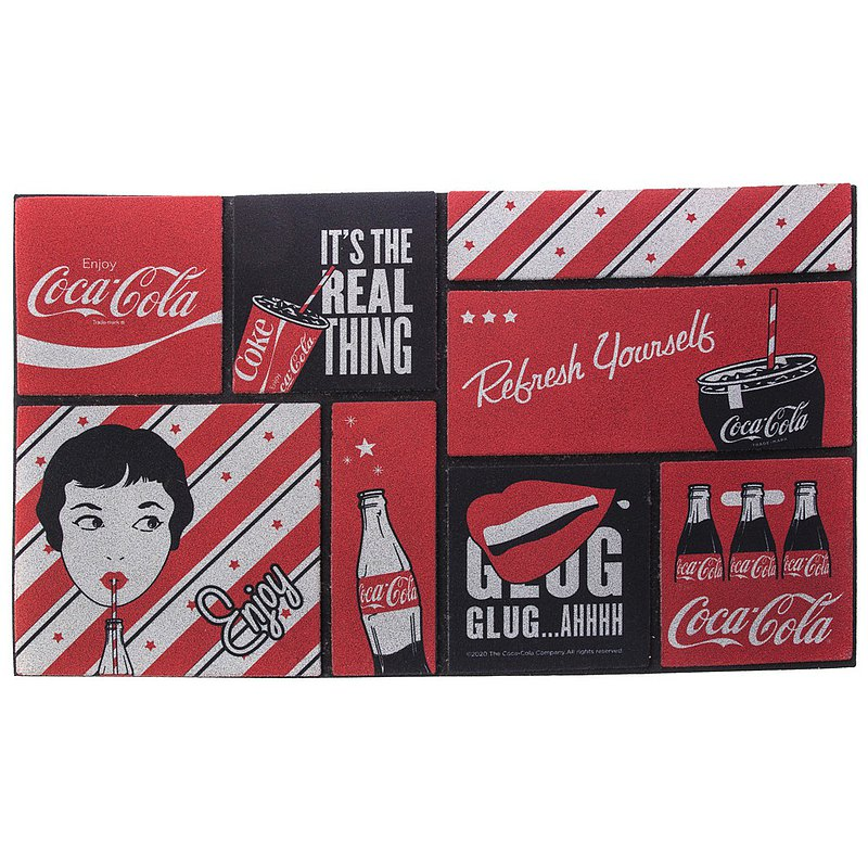HOLA 可口可樂系列 刮泥墊 45x76cm Coca-Cola