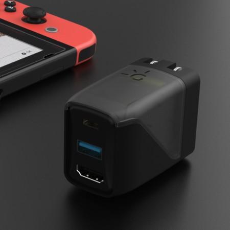 把 Switch TV 模式輕鬆放進口袋*【GENKI Dock】 影像轉接充電器