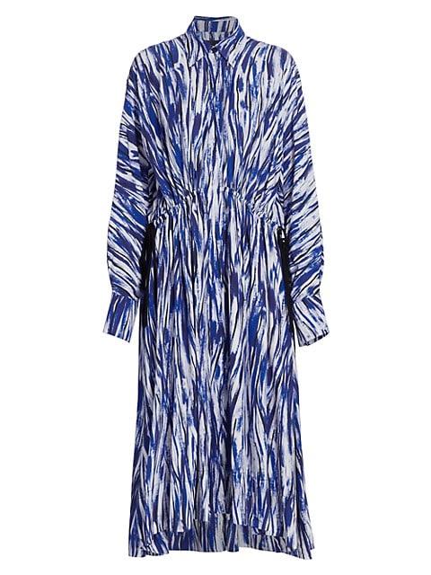 Painterly Stripe Marocaine Midi Shirtdress