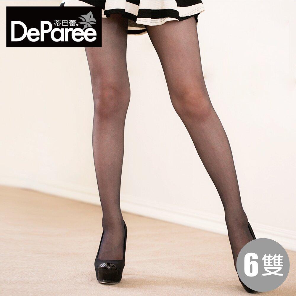 Deparee蒂巴蕾 長腿細 Magic加長彈性絲襪 6雙組 (淺膚/膚/黑)