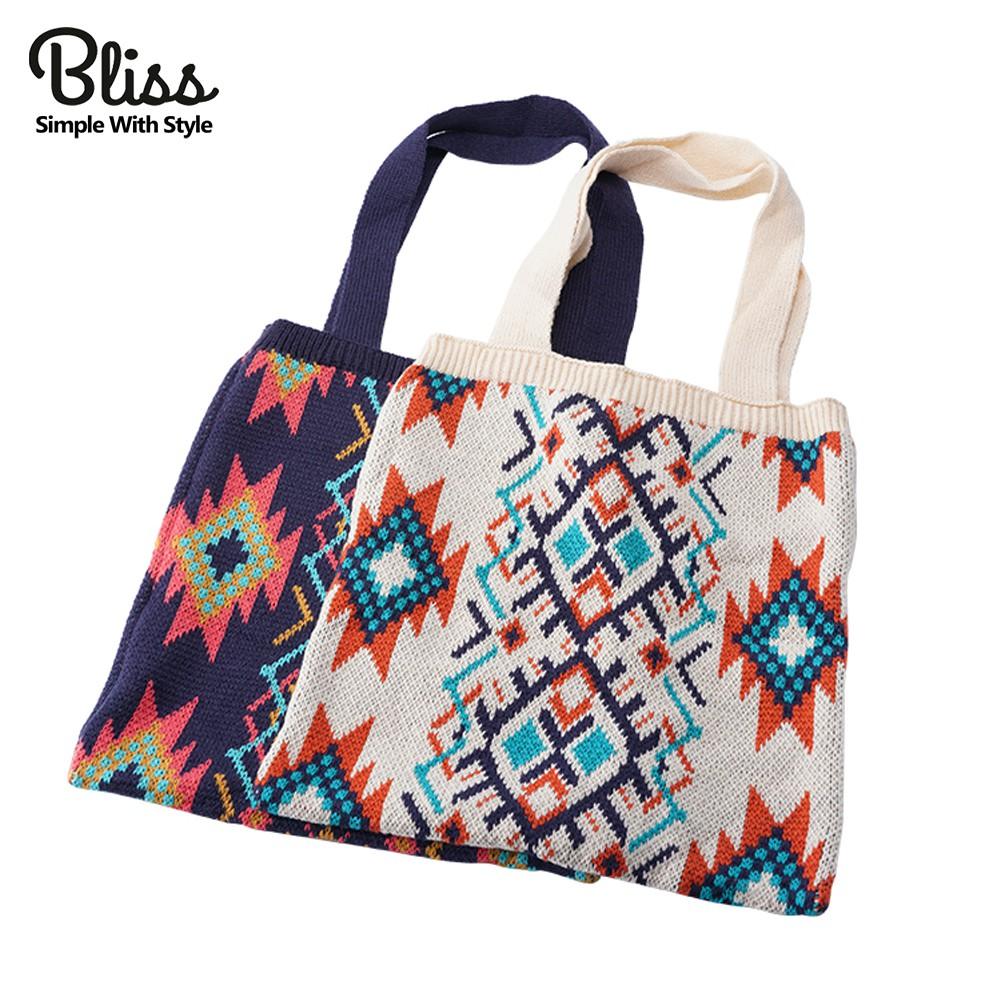 Bliss BKK 秋冬民族風針織手提包 肩背包 7款可選