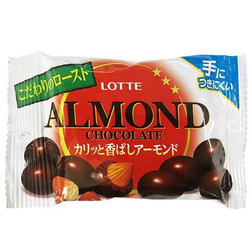 LOTTE Almond杏仁巧克力球隨手包-43g【愛買】
