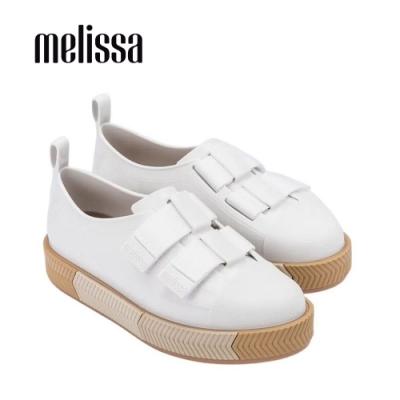 Melissa EASY時尚寬帶裝飾懶人鞋-白