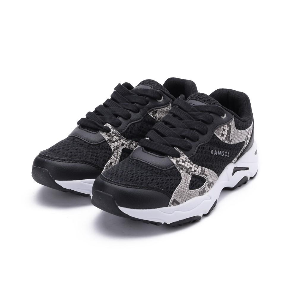 KANGOL 拼接蛇紋運動休閒鞋 黑 6052240720 女鞋