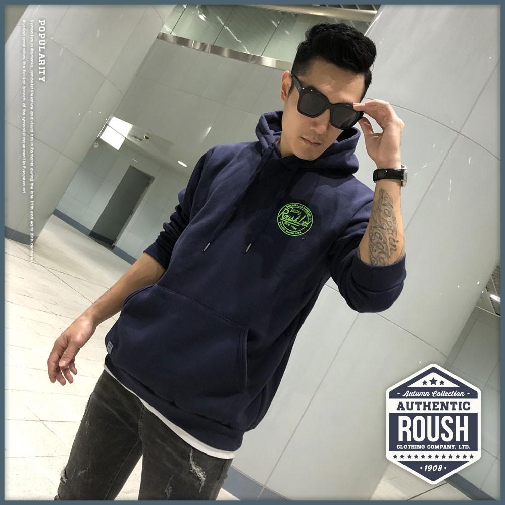Roush - ROUSH圓形膠印刷毛帽TEE【2010605】