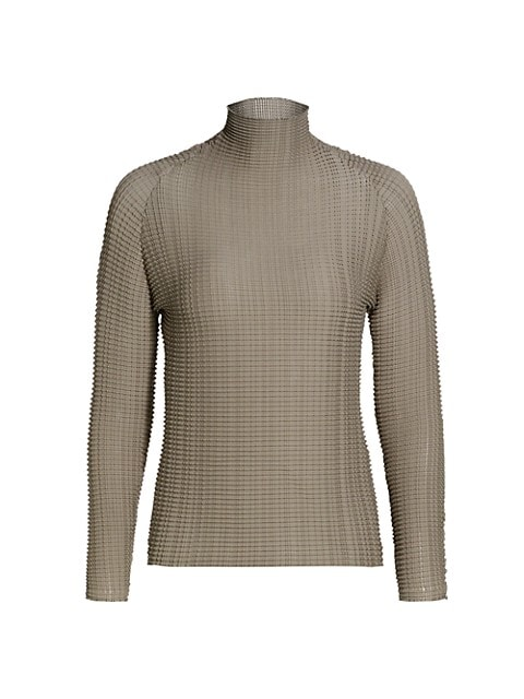 Wooly Pleats Turtleneck