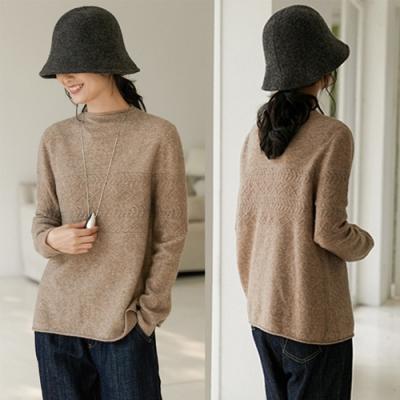 高品質加厚羊毛衫復古絞花套頭毛衣-設計所在