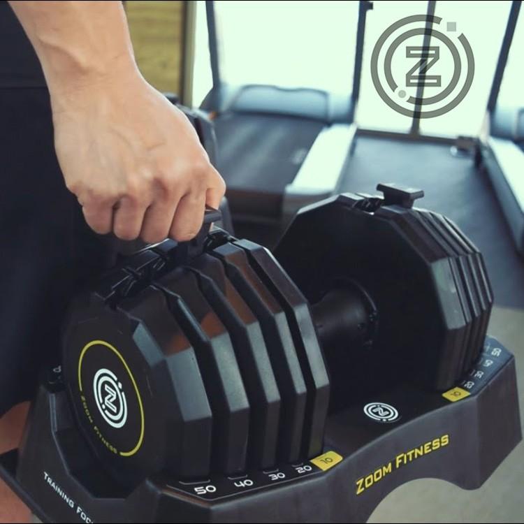 Zoom Fitness組合 50LB調整啞鈴 x1 + 專屬啞鈴架 x1