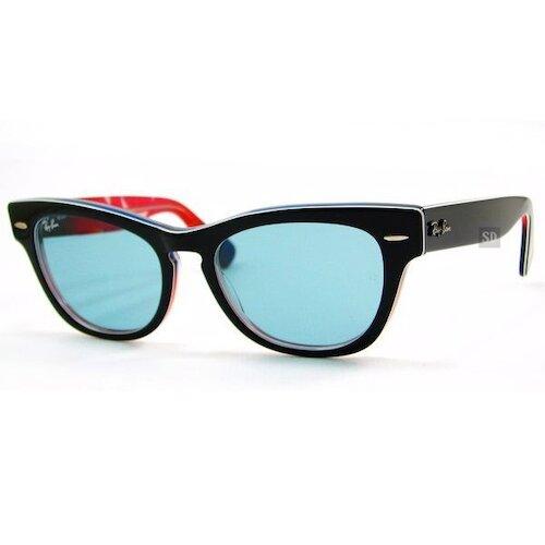 【RayBan】雷朋 太陽眼鏡墨鏡 RB4169 1078 62 LARAMIE 限量版 藍鏡片 黑框 墨鏡 51mm