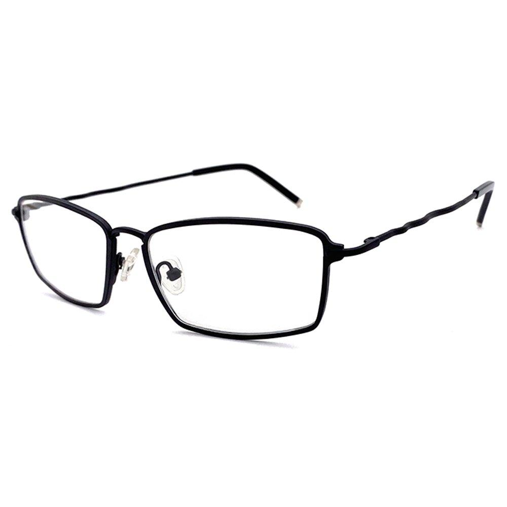【SUNS】合金系列光學眼鏡鏡框 鋁黑方框+黑色鏡腳(複合材質/全框)