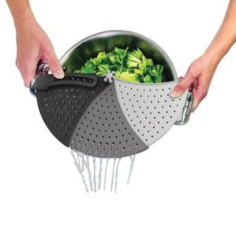可依據鍋碗的尺寸調整大小的瀝水器*【SPINOUT】 Strainer 旋轉廚房瀝水器*全新福利品出清