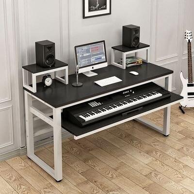 音樂工作台 簡約現代電子琴桌電鋼琴音樂調音錄音棚家用琴架琴桌編曲桌工作台T