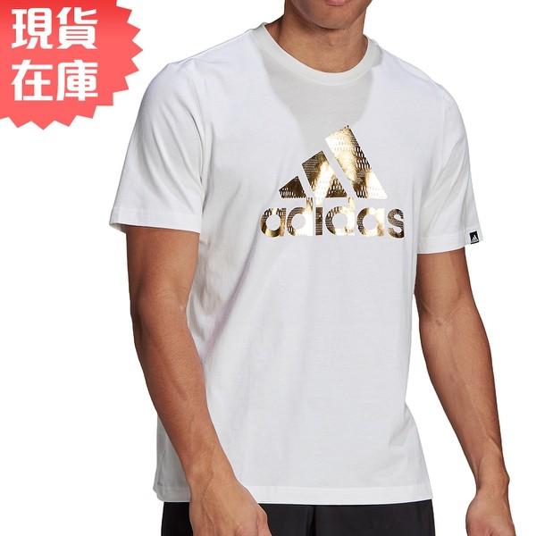 Adidas FOIL LOGO GRAPHIC 男裝 短袖 燙金LOGO 純棉 白【運動世界】GL3703 【現貨】