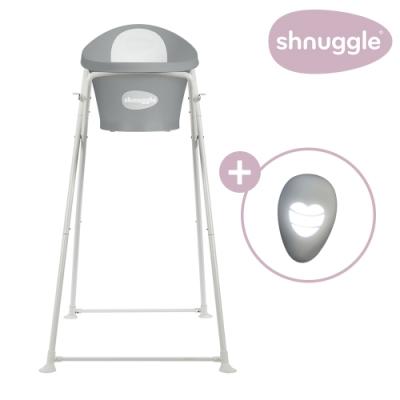 【英國Shnuggle】月亮澡盆三件組-月亮澡盆(皇家限定款)+專用架U2+變色溫度計
