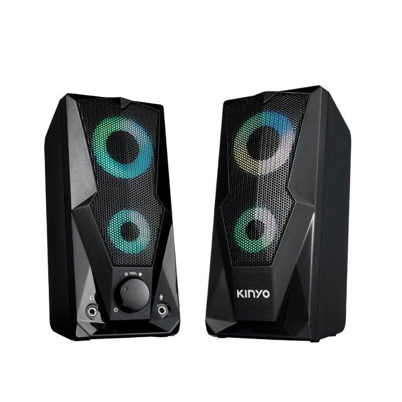 KINYO 觸碰炫光音箱US252(免運) 多媒體音箱USB2.0 電腦喇叭600W 音響【HA454】◎123便利屋◎