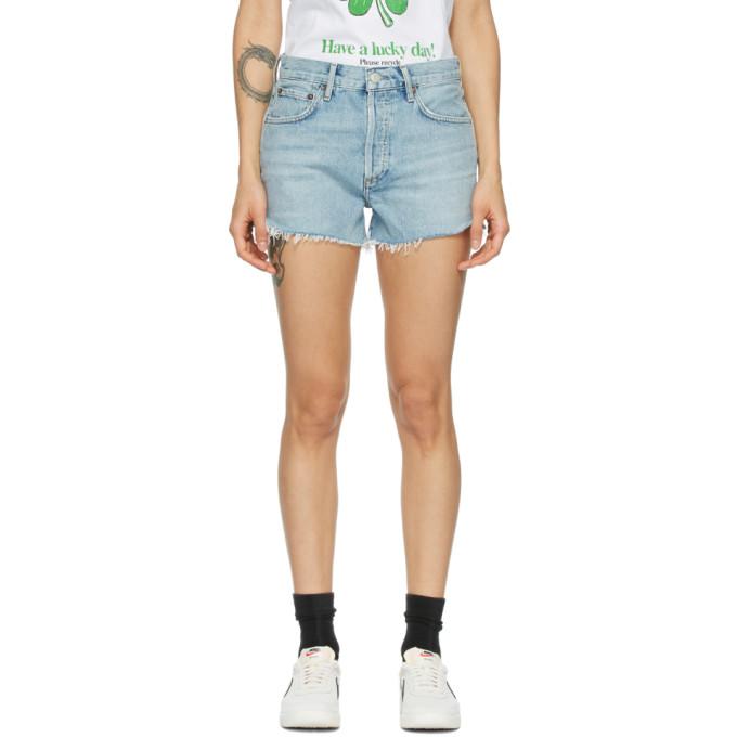 AGOLDE 蓝色 Parker Vintage 短裤