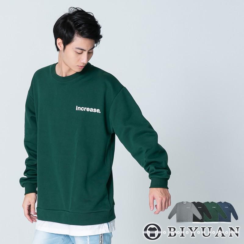 【OBIYUAN】長袖衣服 厚磅 MIT 假兩件 寬鬆 長袖t恤共4色 【X813】