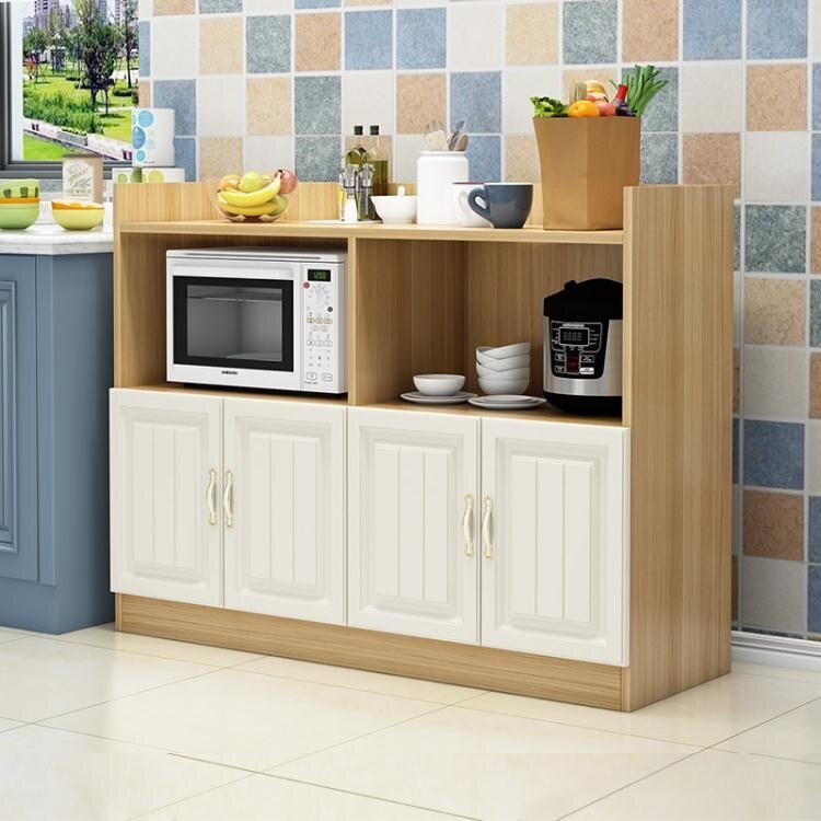 餐邊櫃現代簡約廚房儲物置物櫃餐廳碗櫃微波爐烤箱收納茶水櫃家用