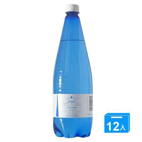 義大利亞莉佳 氣泡礦泉水 1000mlx12【愛買】