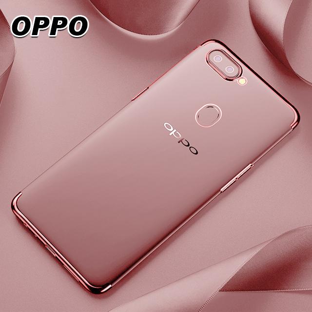 [現貨]歐珀 OPPO R15/A3/R11/A73/A75/A57/A77/R9/F1S 系列 三段電鍍透明手機殼【QZZZ31008】