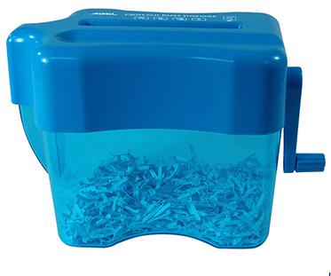 力大ABEL 全碎型手動碎紙機04802-天空藍