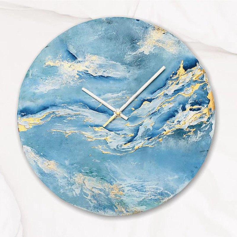 原創 -石紋 畫鐘   在冰海裏漫游