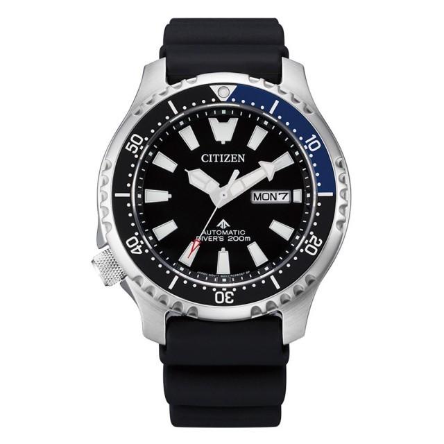 CITIZEN 星辰 PROMASTER 鋼鐵河豚系列 深海潛航限量機械腕錶-黑X藍框44mm((NY0111-11E)