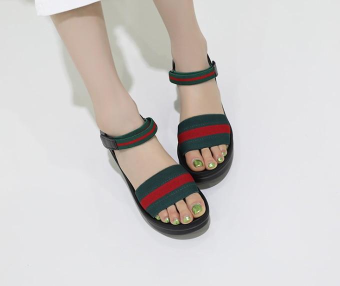 [Jaysh] 手工鞋 天然羊皮 厚底 涼鞋 黑色