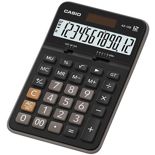 casioax-12b 12位數 大型顯示幕 獨立記憶體 商用標準型 計算機