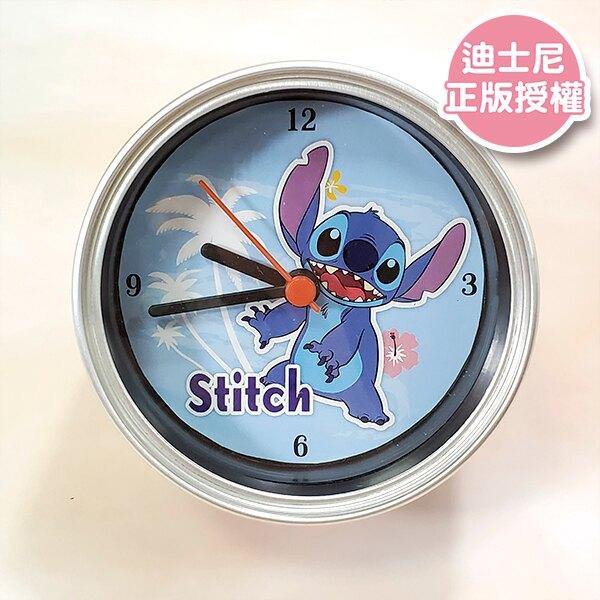 史迪奇 南洋風 罐頭鐘 桌上擺飾 桌鐘 擺鐘 Disney 迪士尼正版授權 【蕾寶】