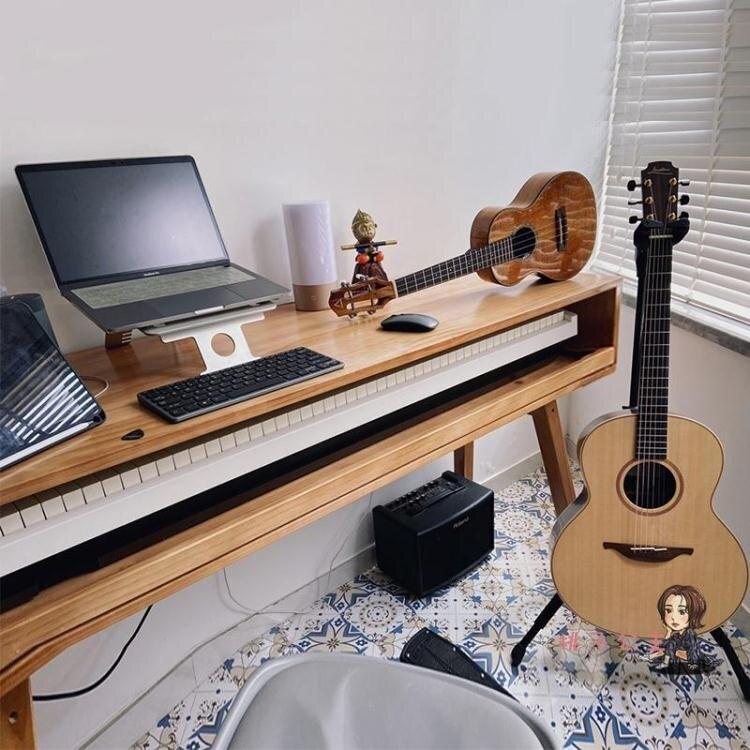 音樂工作台 實木琴桌電鋼琴桌子編曲桌音樂製作工作台錄音棚調音台MIDI鍵盤桌T