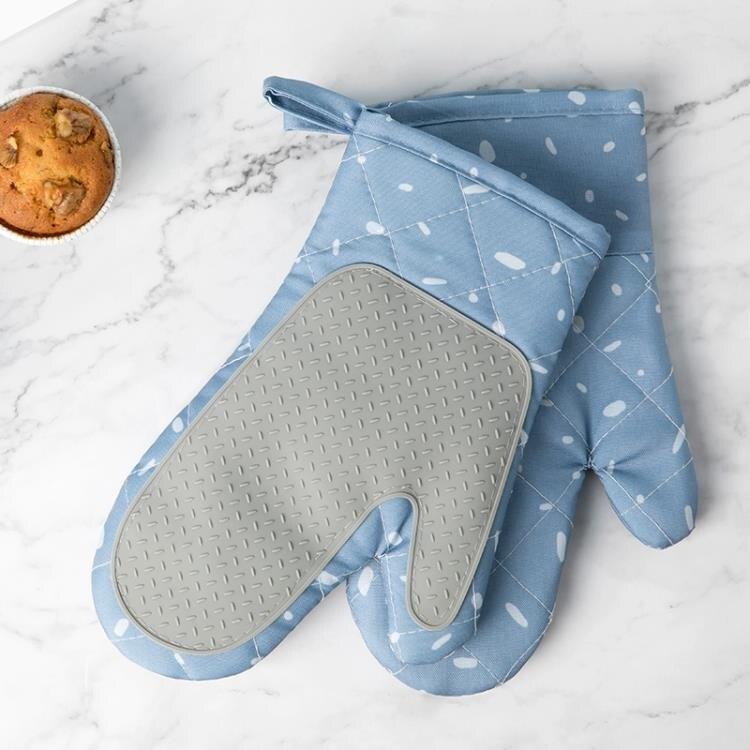 微波爐防燙手套2只隔熱防熱家用耐高溫廚房烘焙烤箱專用手套布藝 全館牛轉錢坤 新品開好運