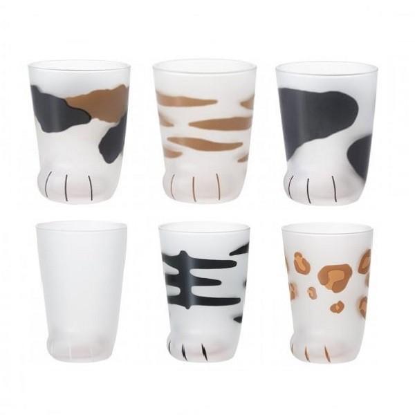 【日本Aderia】可愛貓掌肉球野餐杯300ml (三花/虎斑/奶牛/透明/豹紋/老虎)《屋外生活》