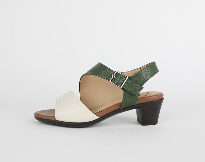 [Jaysh] 手工鞋 天然羊皮 簡單款 魔術貼 涼鞋 綠色