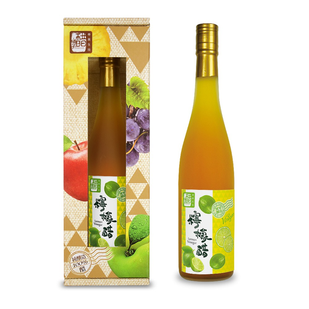 【醋桶子】單入果醋禮盒組-梅子醋600ml/組