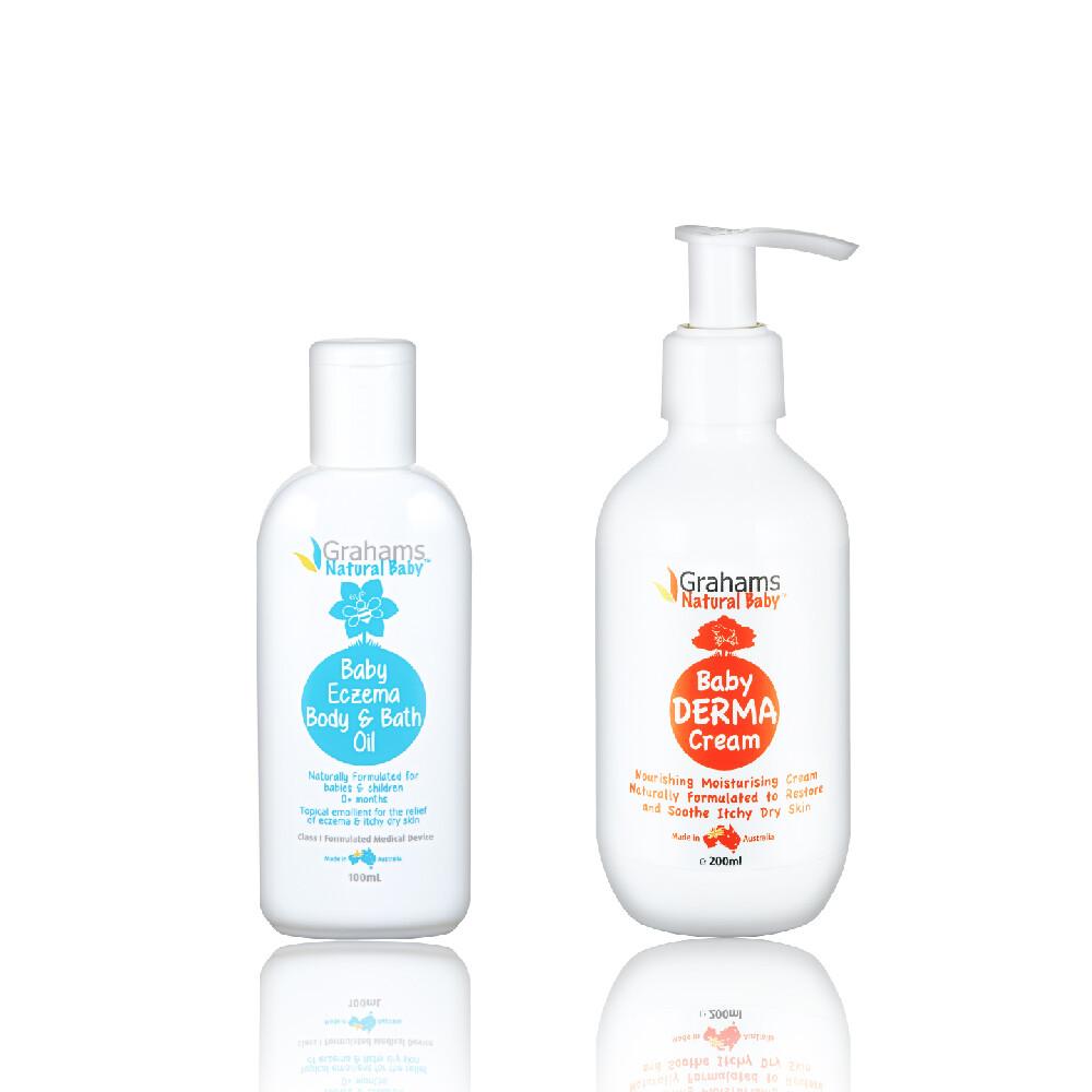 澳洲珂然嬰兒異敏潤膚油100ml+嬰兒舒敏潤膚霜200ml