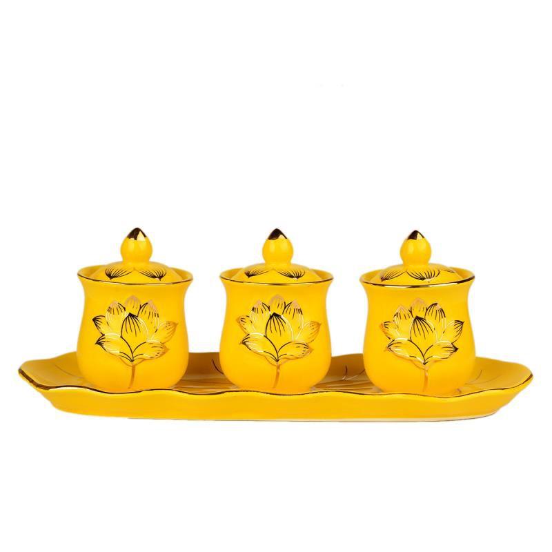 風水閣陶瓷蓮花供杯供水杯用具禮佛凈水杯供佛白瓷財神圣水杯擺件