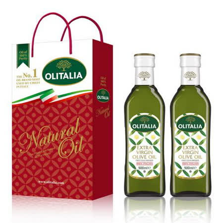 Olitalia奧利塔 特級初榨橄欖油禮盒組 500mlx2瓶
