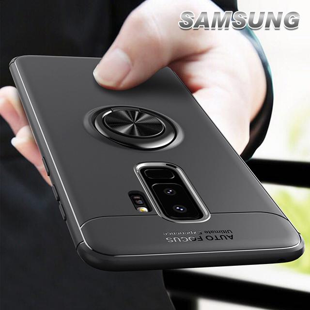 [現貨]三星 SAMSUNG S9/S8/NOTE9/NOTE8 簡約質感撞色磁吸指環支架手機殼【QZZZ32005】