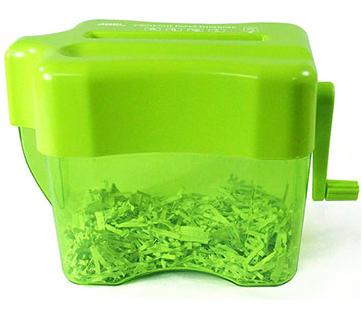 力大ABEL 全碎型手動碎紙機04802-嫩果綠