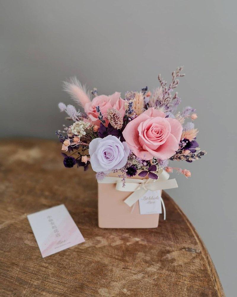 客製中乾燥盆花 • 乾燥花/永生花/情人節/母親節/生日/交換禮物