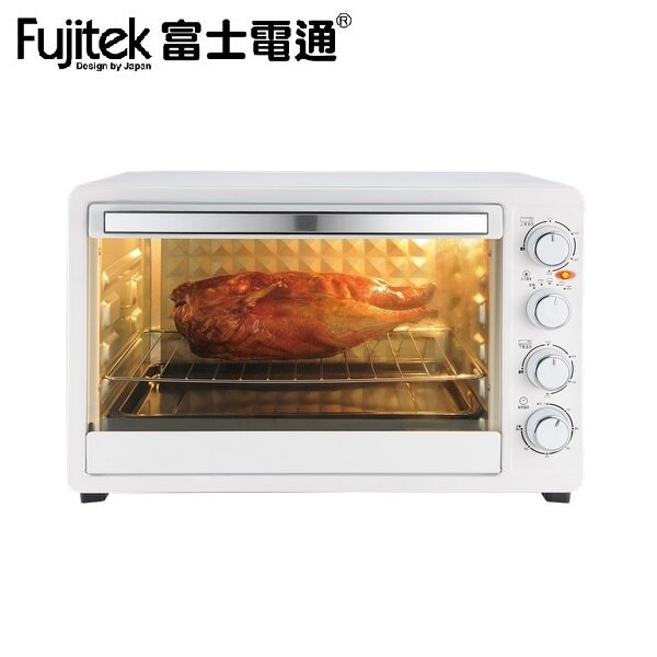 【富士電通】40公升旋風電烤箱FTO-LN300(霧面白)