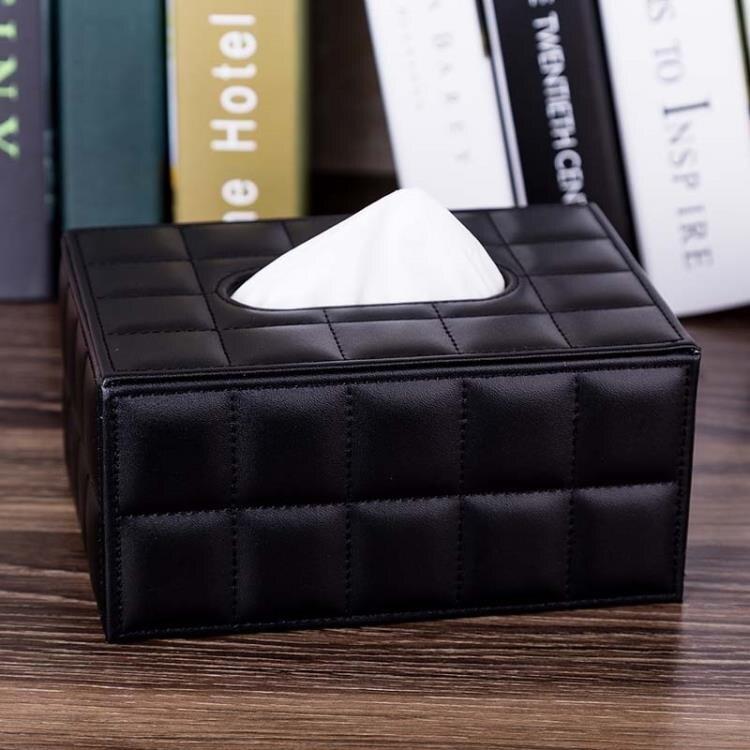 羊皮紙巾盒抽紙盒創意客廳餐巾紙盒家用車用歐式大號 快速出貨麻吉好貨