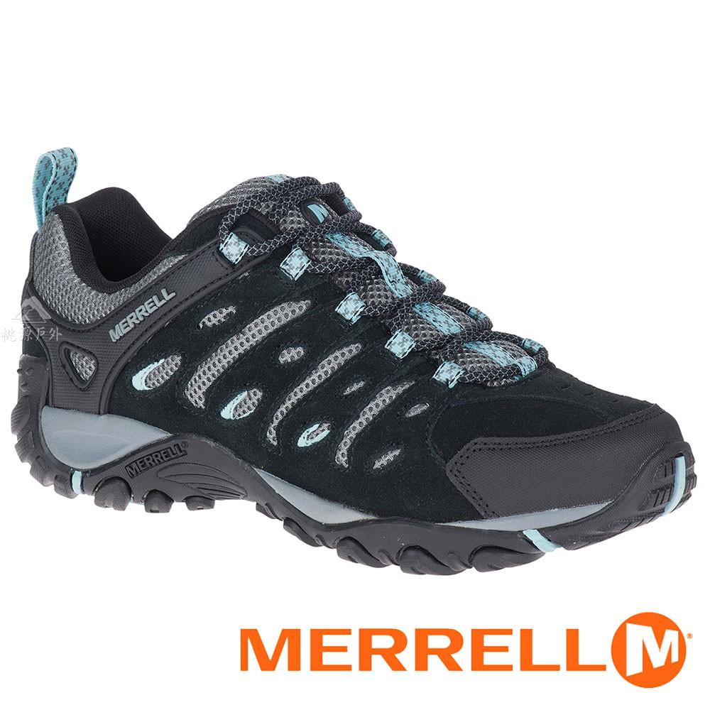 【MERRELL 美國】CROSSLANDER 2女多功能健行鞋『黑/水藍』034726