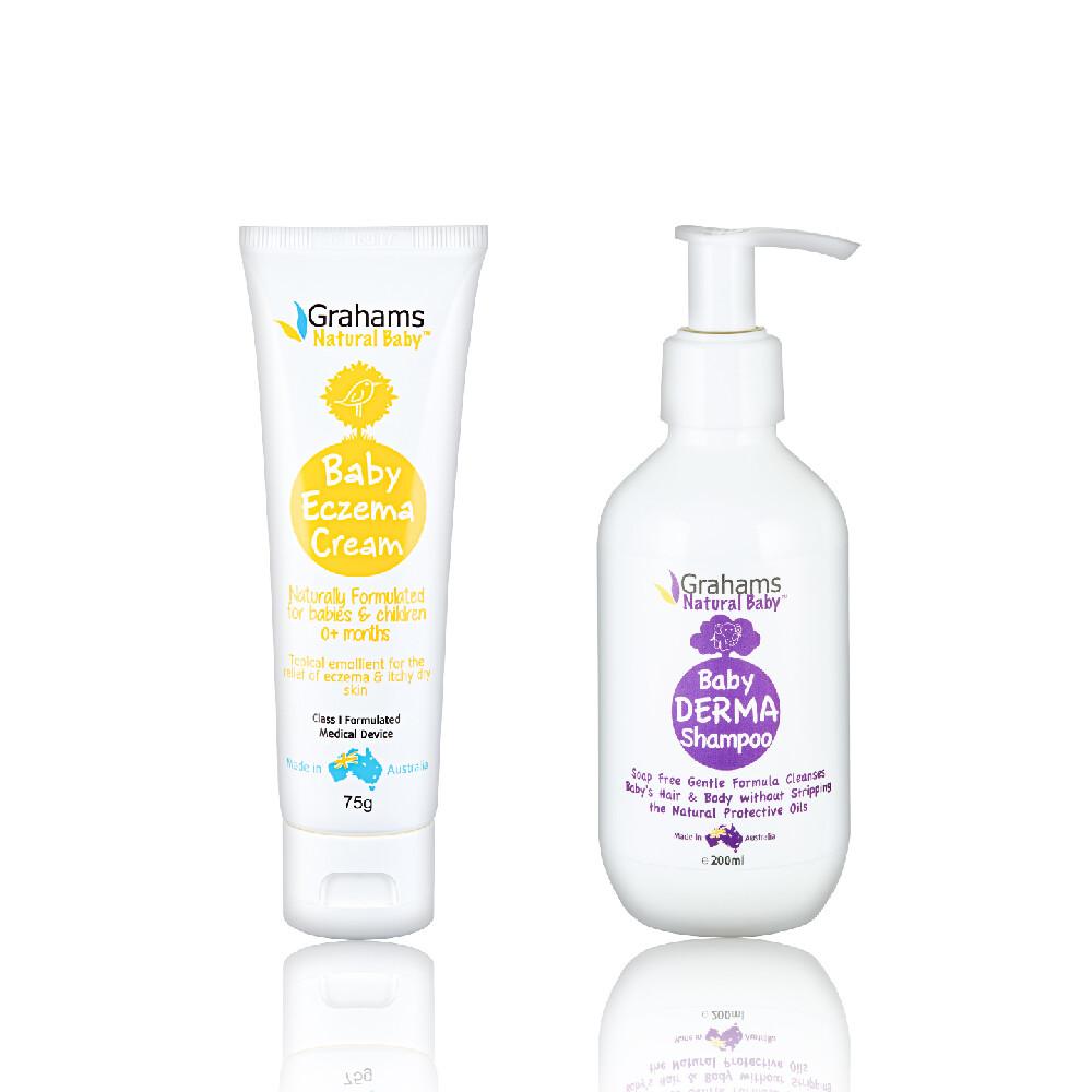 澳洲珂然嬰兒異敏修護霜75g+嬰兒舒敏洗髮露200ml