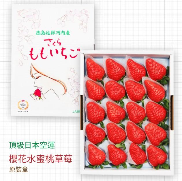 【頂級日本櫻花水蜜桃草莓】左那河內限定原裝禮盒